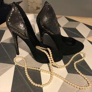 Aldo Black heel genuine leather